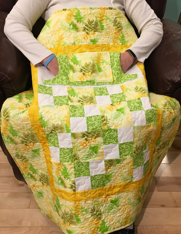 Fern Lovie Lap Quilt with Pockets, great for a wheelchair or any chair.  For sale at http://www.HomeSEwnByCarolyn.com