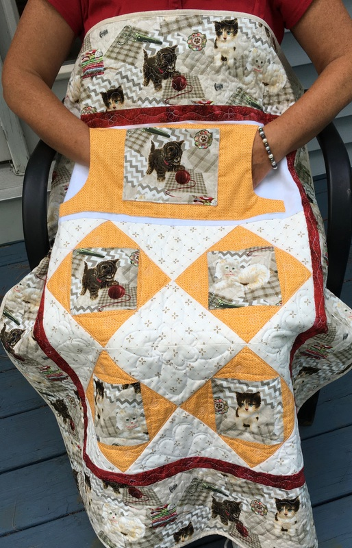 Kitten Play Lovie Lap Quilt with Pockets from http://www.HomeSEwnByCarolyn.com
