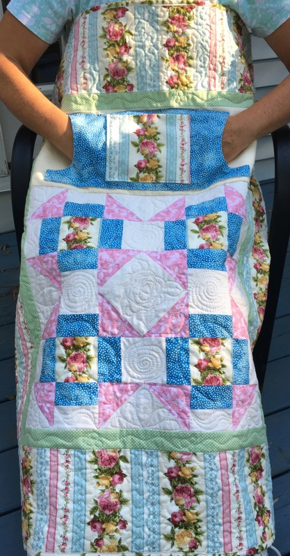 Rose Cluster Lovie Lap Quilt from http://www.HomeSewnByCarolyn.com