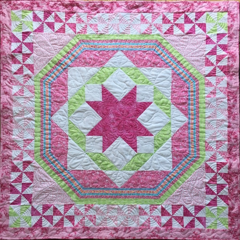 Star Baby Quilt from http://www.HomeSewnByCarolyn.com