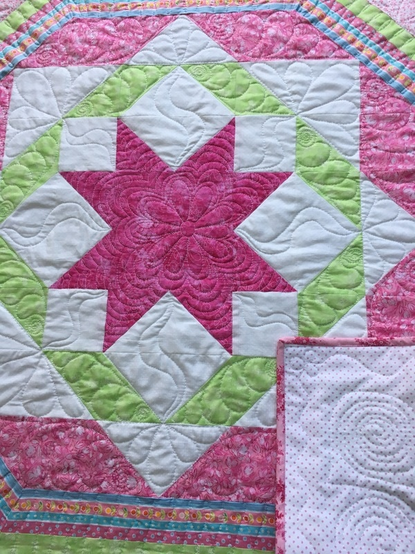 Free motion quilting from http://www.HomeSewnByCarolyn.com