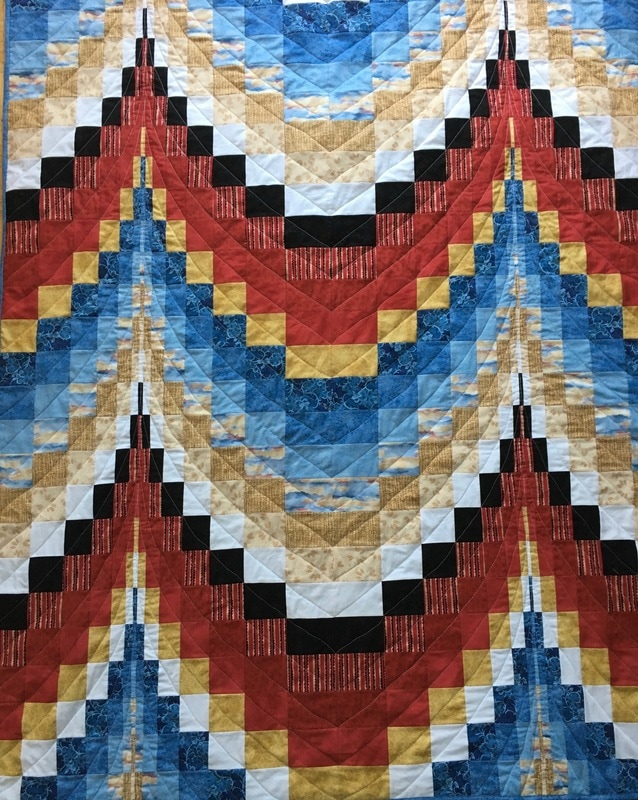 Native American Quilt from http://www.HomeSewnByCarolyn.com
