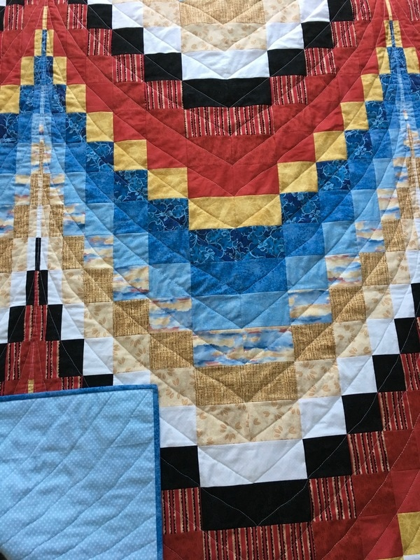 Bargello quilt from http://www.HomeSewnByCarolyn.com
